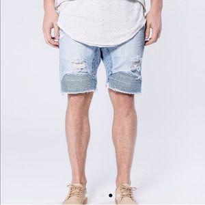 Kollar Moto Denim Shorts